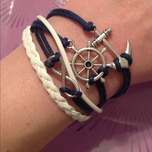Nautical Themed Infinity Bracelet